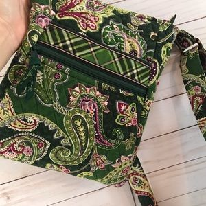 Vera Bradley Chelsea Green Crossbody Bag